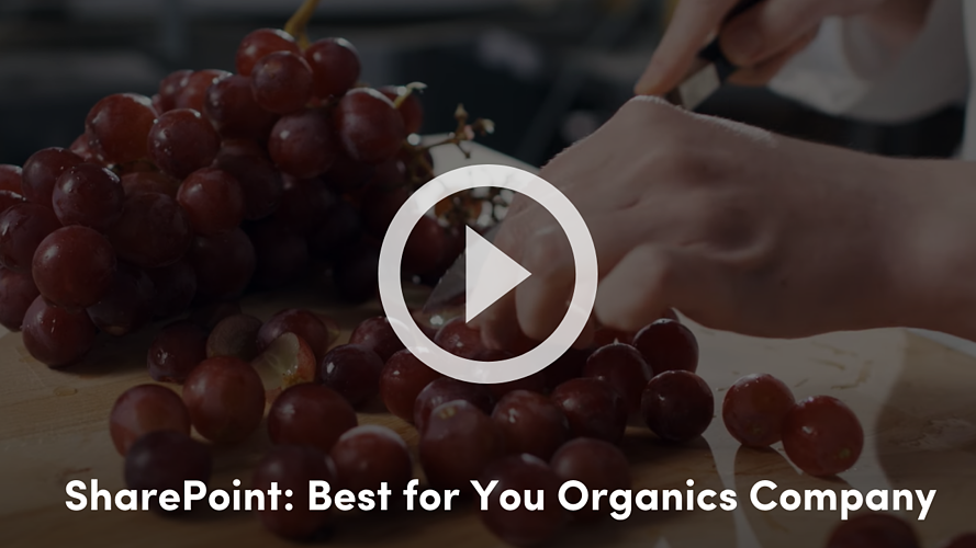 SharePoint Best for You Organics Company
